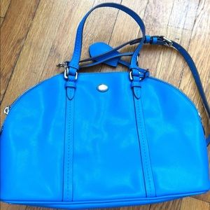 coach boston handbag blue